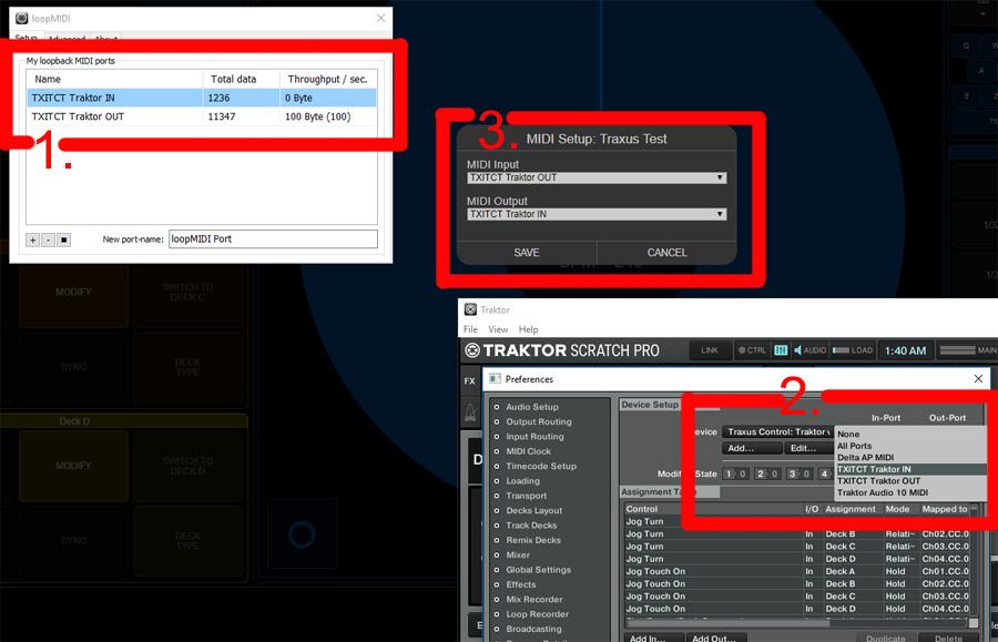 WebMIDI interface MIDI i/o setup : Traxus Interactive